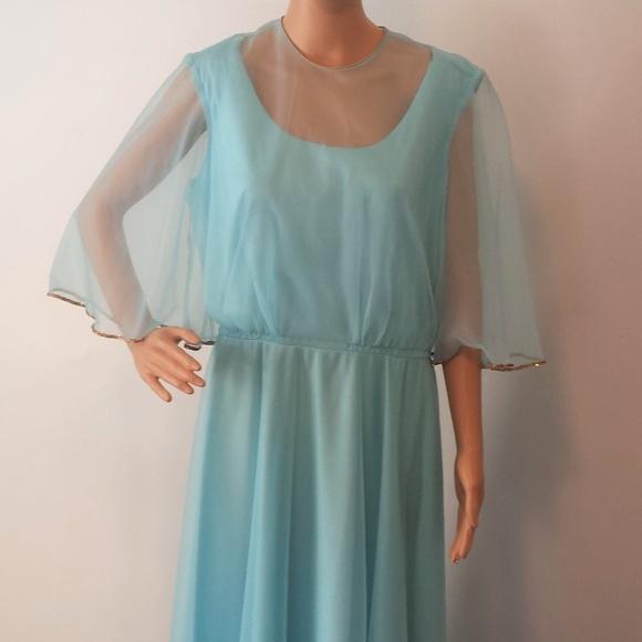 ea2dd44eb0f2 Vintage Light Blue Mike Benet 70's Formal Dress. M_5ae77725daa8f62f63675a22